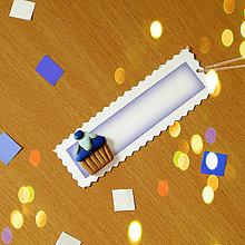 Papiernictvo - Ozdobné menovky na darček  (koláčik) - 8586822_