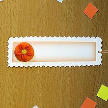 Papiernictvo - Ozdobné menovky na darček  (ďalší kvet) - 8588149_