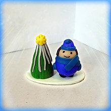 Socha - Strieborný vianočný stromček +  (tučný chalan) - 8589908_