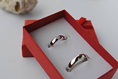 """Prstene - Obrúčky """"moje srdiečko"""" strieborné lesklé - 8590558_"""