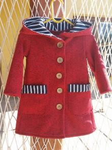 Detské oblečenie - Kabatik červeny s pružkom - 8591243_
