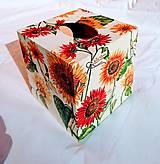 """Krabičky - Box na vreckovky """"Slnečnice"""" - 8593797_"""