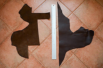 Suroviny - Zbytková koža - veľké kusy - 8592696_