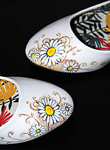 Obuv - balerínky s margarétkami - 8591821_