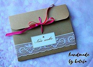 Darčekové poukážky - Obal na fotky - 8591333_