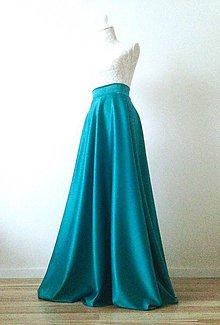 Sukne - Saténová sukňa dlhá kruhová - 8592299_