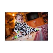 Detské oblečenie - Rostoucí OVERAL 100% merino vlna: grafitové hvězdy (74-80/86) - 8591773_