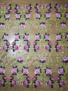 Textil - Exkluzívna tylová krajka - 8592138_