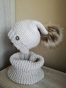 Detské čiapky - Bledohneda súprava - 8591652_