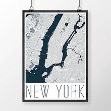 Obrazy - NEW YORK, moderný, svetlomodrý - 8592586_