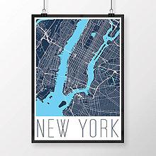 Obrazy - NEW YORK, moderný, tmavomodrý - 8592591_