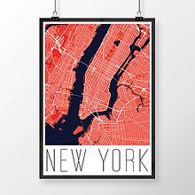 Obrazy - NEW YORK, moderný, červený - 8592592_