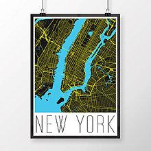 Obrazy - NEW YORK, moderný, čierny - 8592593_