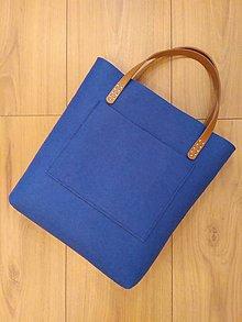 Kabelky - Filcová kabelka s kapsou \