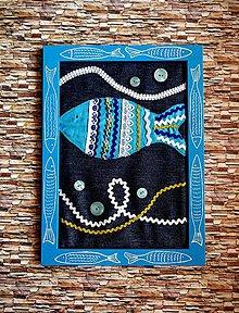 Obrazy - Rybka - textilný obraz - 8590762_