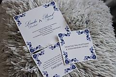 Papiernictvo - Svadobné oznámenie - BLUE FOLK 1 - 8594112_