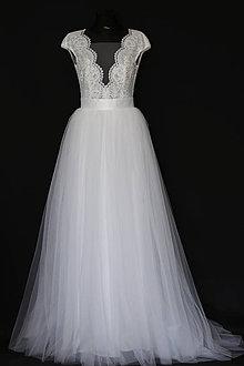 aae2b9890be7 Šaty - Svadobné šaty s holým chrbátom a veľkou tylovou sukňou - 8593337