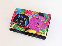 Peňaženky - Luxusní barevní pejsci I. - malá i na karty - 8591347_