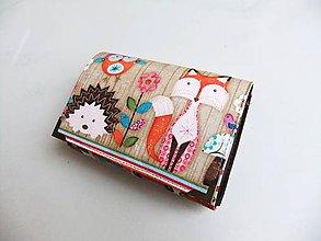 Peňaženky - S lištičkou - peněženka i na karty - 8590722_