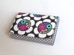Peňaženky - Barevné kytičky - peněženka i na karty - 8590739_
