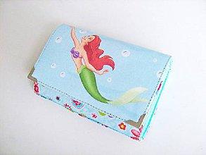 Peňaženky - Víla Ariel - malá i na karty - 8590774_