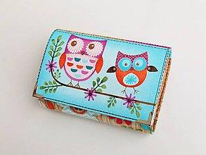 Peňaženky - Dvě sovičky kamarádky - malá i na karty - 8590928_
