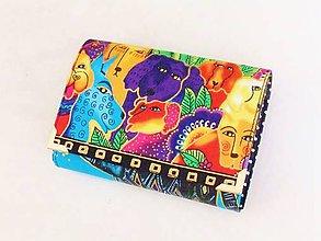 Peňaženky - Luxusní barevní pejsci - malá i na karty - 8591318_