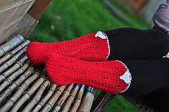 Obuv - červené ponožky-merino - 8593382_