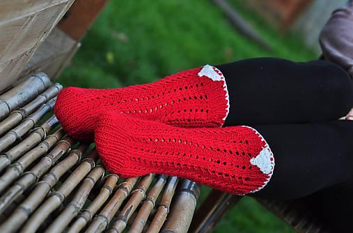 červené ponožky-merino