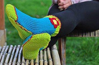 Obuv - Tyrkysové ponožky - 8592850_