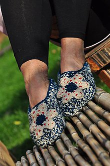 Obuv - Tyrkysové papuče - 8592911_