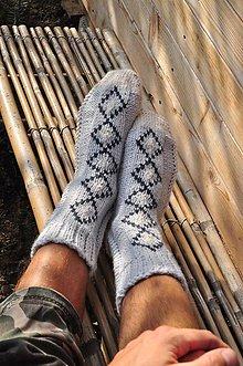 Obuv - sivé,pánske ponožky - 8593453_