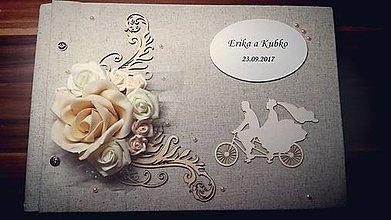 Papiernictvo - ♡ Romantický svadobný fotoalbum ♡ - 8591000_