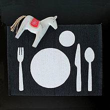 Hračky - Montessori prestieranie čierno-biele - 8591870_