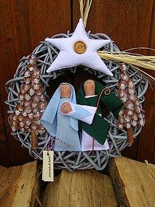 Dekorácie - Vianočný veniec-3 - 8595454_