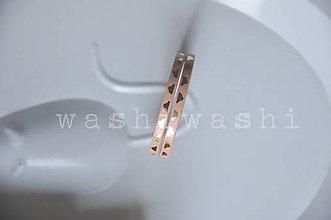 Papier - washi paska extra slim zlaté obláčiky - 8596587_