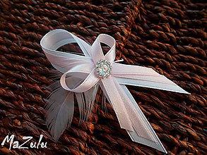 Pierka - svadobné pierko ružové s perím - 8594744_