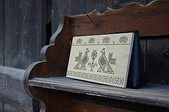 Kabelky - Drevená kabelka MINI /Čičmany - 8596606_