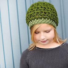 Detské čiapky - hrubšia čiapka borovicová - 8598832_