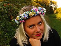 Ozdoby do vlasov - Romantický modrý venček - 8598206_