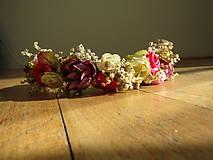 Ozdoby do vlasov - Venček z ruží a gypsomilky - 8598262_