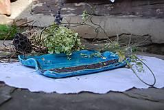 Nádoby - modrá tácka - 8597917_