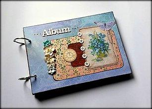 Papiernictvo - Vintage svadobný/ romantický scrapbook album A5 - 8596024_
