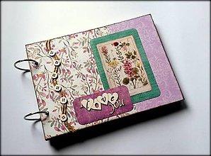 Papiernictvo - Vintage svadobný/ romantický scrapbook album A5 - 8596094_