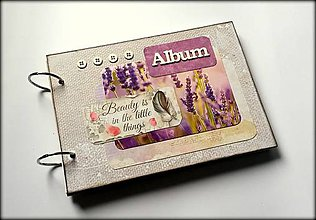 Papiernictvo - Vintage svadobný/ romantický scrapbook album A5 - 8596121_