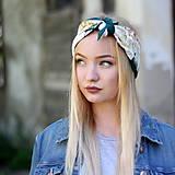 Ozdoby do vlasov - Vintage šatka do vlasov Ruže II. - 8595935_