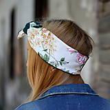 Ozdoby do vlasov - Vintage šatka do vlasov Ruže II. - 8595936_