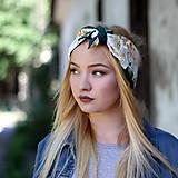 Ozdoby do vlasov - Vintage šatka do vlasov Ruže II. - 8595937_