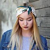Ozdoby do vlasov - Vintage šatka do vlasov Ruže II. - 8595940_