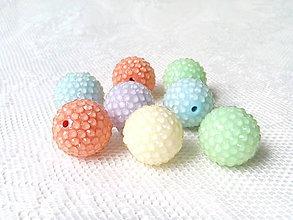 Korálky - Živicové pastelové korálky - mix - 8596614_